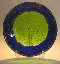 Art Glass Bowl - Cobalt Blue Kiln Formed Glass Bowl