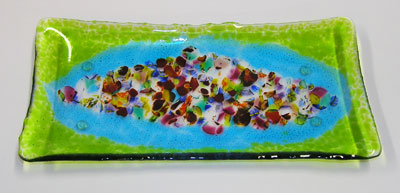 Jewelry Art Glass Platter
